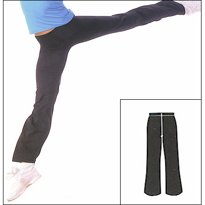 Classic Cut-Jazz Pant Style #: 0691. Classic cut Jazz Pant Features A Merrowed Edge hem For Fluid Movement.Soft Tactel/Lycra Microfiber Fabric is breathable and quick-drying.