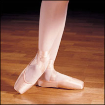"Capezio--""Contempora"" Child Pointe Shoes Style #: 176X. Ideal for dancers with a moderately broad forefoot and toes that taper. The moderate shank and toe box make this shoe perfect for dancers with strong feet or high arches. It is also well suited for dancers looking for a reliable, long-lasting toe box. Students appreciate the durable support that promotes balance en pointe while more advanced dancers enjoy the stability of the larger platform, longer vamp and the security of the forefoot. The slightly narrow heel gives a custom fit."