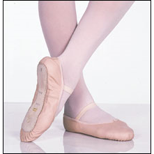 Capezio-Full Sole Leather **Online Special** Style #: 205C. Capezio®'s Daisy is a perfect choice for the beginner. This leather ballet slipper features an all over dainty cotton daisy print lining, anchored drawstring, along with an inside student ID tag. The Daisy offers functions and superior fit at an excellent price.