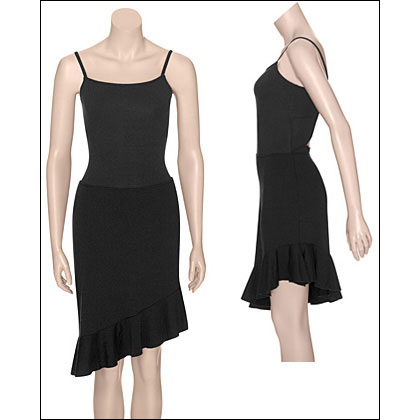 Women's Pull-on Salsa Dance Skirt Style #: 2621. The fluttery assymmetrical hem and body-hugging fit of our Salsa pull-on skirt is sure to add some spice to your step. Pair with a sleek leotard and get out there and move in this fun and flirty dance skirt! Asymmetrical hemline. Made in USA and Imported.