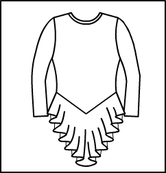 Long Sleeve Crew Neck skating dress W/ Keyhole Bac Style #: 506-1506. Long Sleeve Crew Neck skating dress W/ Keyhole Back.