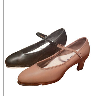capezio- 1.5 Inch Heel Tap Shoes Style #: 561. This all leather tap shoe looks and feels like the Capezio classic character shoe #551.It meatures a 1.5 Inch leather covered heel and leather lift and has a Tele-Tone toe and heel tap attached.Leather sole with a non-skid rubber pad.Latex foam insole and arch support. Available in Medium and Wide widths.