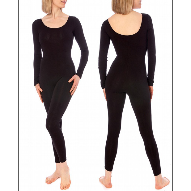 Women's Full Length Unitard Style #: 6227. Sleek cat suit offers a flexible fit for exceptional freedom of movement. The long sleeve ankle length unitard is crafted in a super soft cotton lycra blend for smooth compression. The streamlined styling works great as a base for costumes or as comfortable rehearsal wear, layered or alone. Slip into a look that really moves!