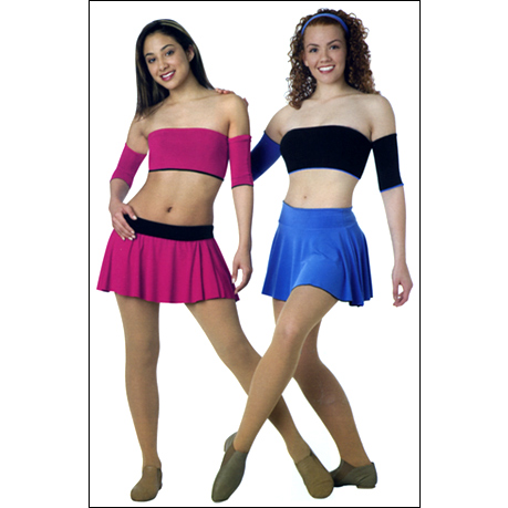 Reversible circle skirt w/turndown waistbnd option Style #: 4036 / 8036. Reversible circle skirt with turn down waistband option. Hanging indicates reversible option.