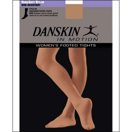 Women's DuraSoft Nylon Footed Backseam Tight Style #: 85. These nylon full-fashion tights have a backseam and sewn-on waistband.<br>