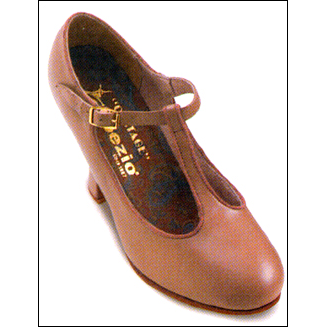 "Capezio -3"" Heel, T-Strap, Character Shoe Style #: 900. Classic closed toe with T-strap. Full grain leather upper. Leather sole and top lift. Fully leather lined. Cushioned suede Socklining. Extra sturdy full Breasted 3-Inch Heel for professional quality support.