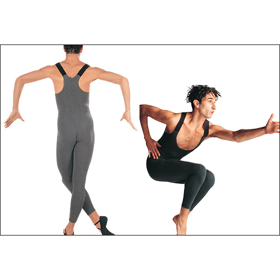 """Nathan"" Ankle Length Unitard Style #: C121C. <li> Open chest