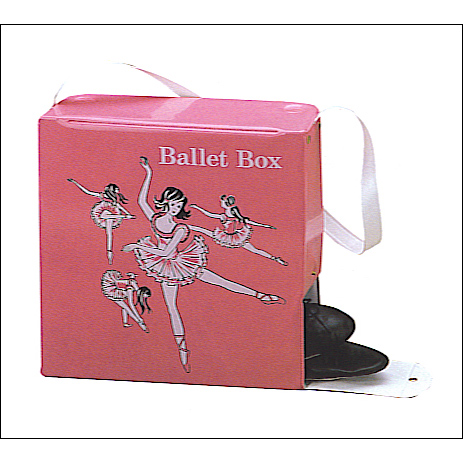 Retro Ballet Box Style #: C83. <li> Pink vinyl, Separate compartment to carry shoes.<br>