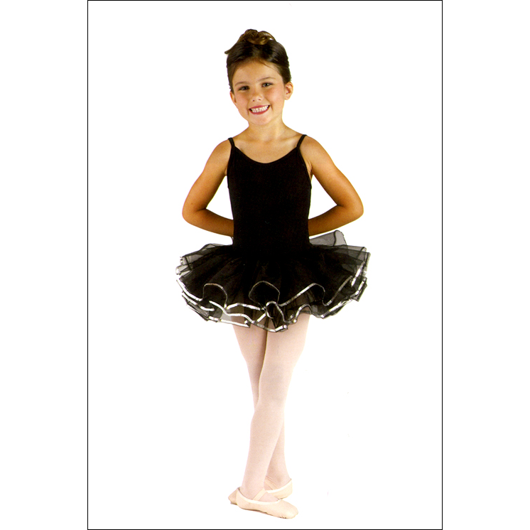 Tutu w/ Sequin Style #: DS-606CS. Tule on elasticized waistband. Edged with silver sequin.<br>