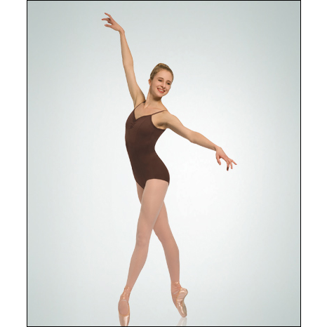 "ProTECH™ Ultra ""V"" Camisole Leotard Style #: P460. Ultra ""V"" Camisole Leotard. Flattering princess seams. Drawstring front & back that adjusts to a deep V-back & front. Open neckline for a flattering fit. Power mesh supportive shelf bra lining."