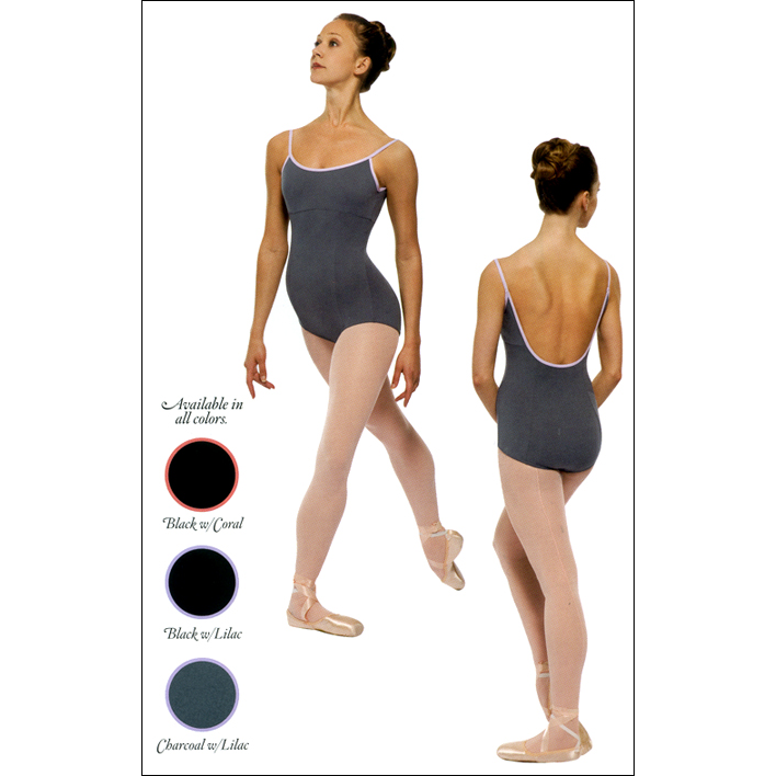 Contrast Binding Camisole Leotard Style #: P473. Contrast binding trim