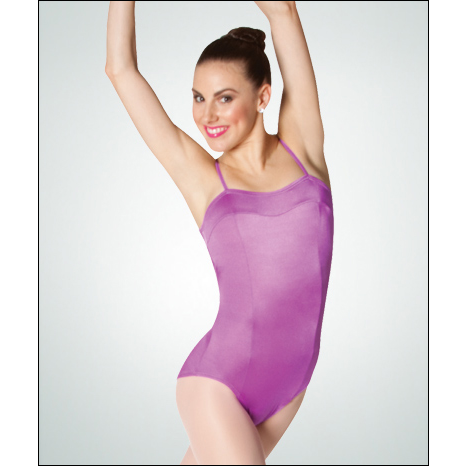 Camisole Yoke V-Back Leotard Style #: P827. * Front princess seams<br />