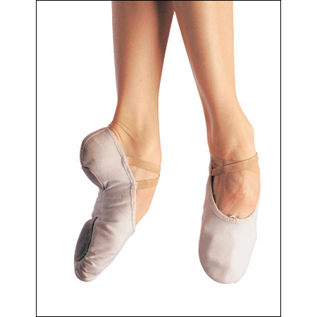 Bloch-Prolite II Streamline - Canvas Ballet Style #: S0-216L. A split-sole specifically designed for smooth lines and comfort. Thick yet soft canvas molds to foots natural shape. A reinforces sponge heel for natural look when pointing foot. No annoying lumps in the front sole pad or heel and room for spreading toes means more balance during turns. Elastic attached at heel.