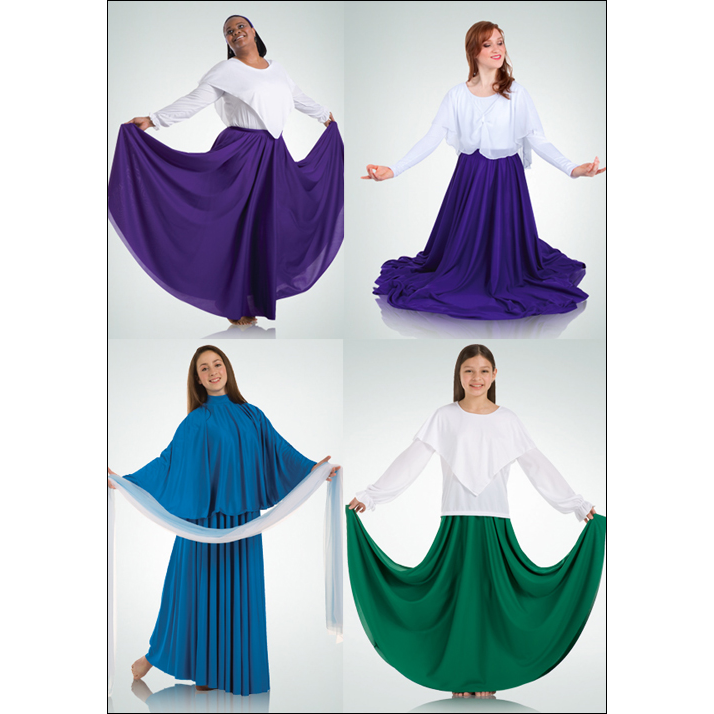 LITURGICAL-DOUBLE CIRCLE SKIRT BODY WRAPPER 502