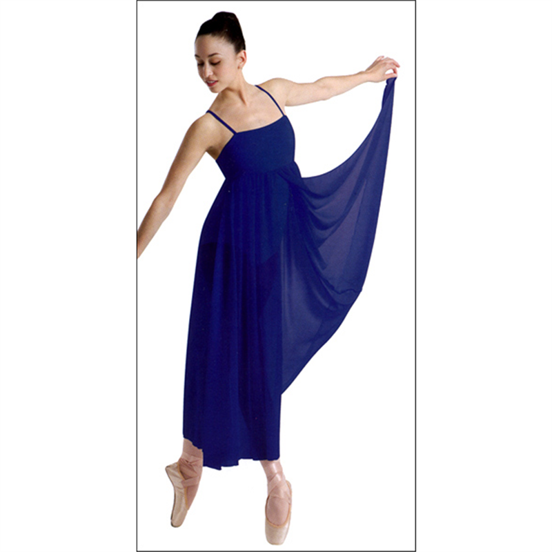 Lyric lyrical dance dresses : Long Dance Dress by Body Wrappers : P708, On Stage Dancewear ...