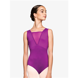 "Womens ""Focused"" Mesh Insert Tank Leotard"
