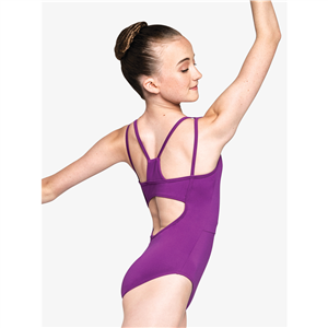 "Womens ""Captivating"" Back Cutout Tank Leotard"