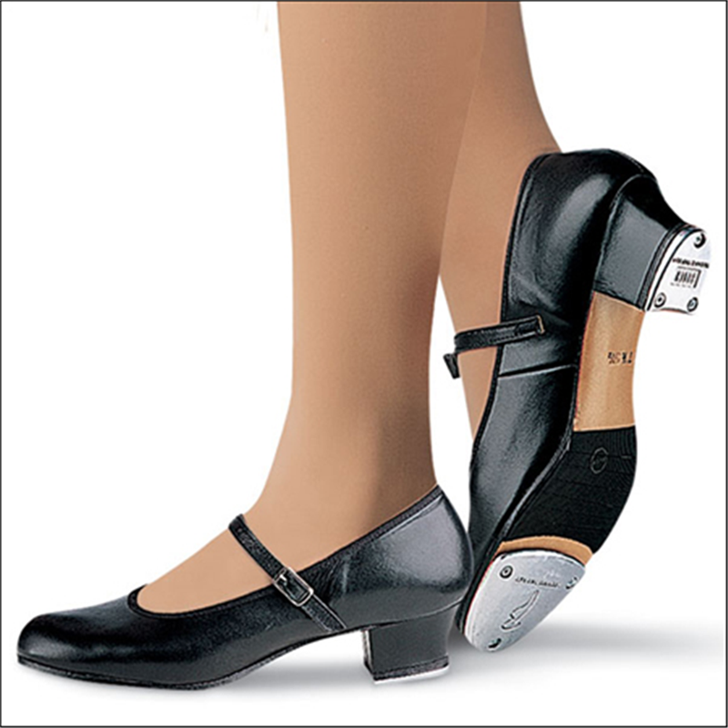 """New//Box Bloch S0323L Ladies Tan Showtappers Tap Shoes 1 1//2/"""" Cuban heel Leather"""