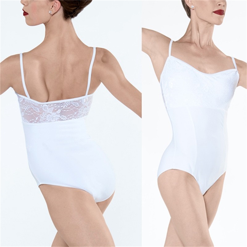 White Empire Dress Leotard Capezio